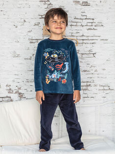 Pyjama bleu motif créatures marines enfant garçon BEMERAGE / 21H5PG62PYJ714