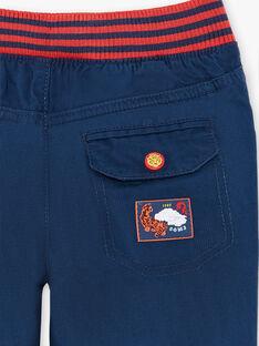 Pantalon bleu taille élastiquée ZAFUNAGE / 21E3PGI1PAN705