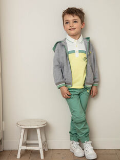 Pantalon jogger vert convertible en twill enfant garçon ZEILAGE / 21E3PGO1PAN631