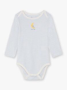 Lot de 3 bodys manches longues motif espace bébé garçon BEGABRIEL / 21H5BG81BDL001