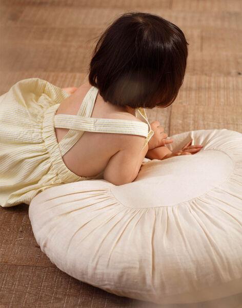Robe chasuble à rayures brodée bébé fille ZANAELLE / 21E1BFO1CHSB104