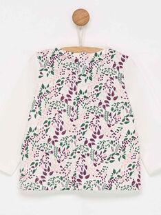 Tee shirt manches longues blanc à motifs PALEA / 18H1BFH1TML001