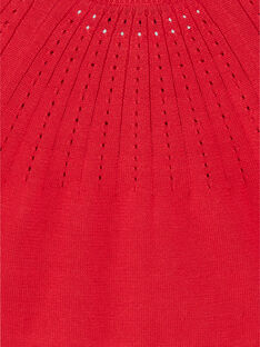 Cardigan rouge en maile fantaisie ZAFANNY / 21E1BFB1CAR050