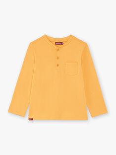 T-shirt manches longues jaune safran enfant garçon BUXOLAGE1 / 21H3PGB3TML113