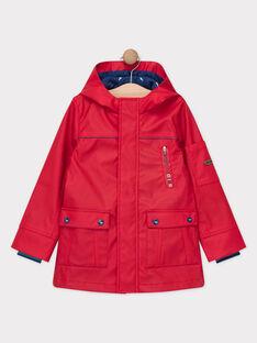 Imperméable à capuche rouge garçon  TACIRAGE / 20E3PGD1IMPF524