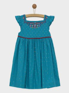 Robe chasuble turquoise ROUBIETTE / 19E2PFM1CHS202