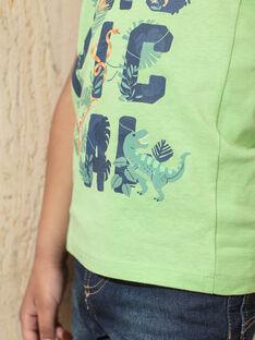 Débardeur vert imprimé enfant garçon TUNALAGE / 20E3PGX1DEBG628