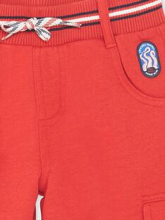 Bermuda rouge en molleton enfant garçon ZINOAGE / 21E3PGT2BERF524