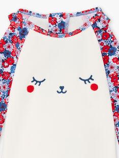 Ensemble T-shirt manches longues et culotte de bain anti-UV bébé fille ZISWEETY / 21E4BFR1EUV020
