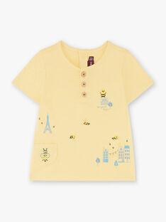 Tee-shirt manches courtes jaune pale  ZACOLINEX / 21E1BG91TMCB103