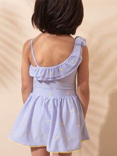 Jupe de bain à rayures enfant fille ZAIKUETTE / 21E4PFR2SDBC218
