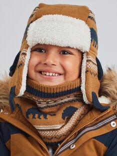 Chapka camel maille jacquard motifs ours enfant garçon BITETAGE / 21H4PGE3BON804