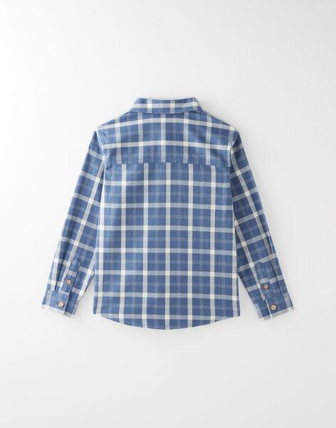 Chemise à carreaux bleue VECLOAGE / 20H3PGL2CHMC201