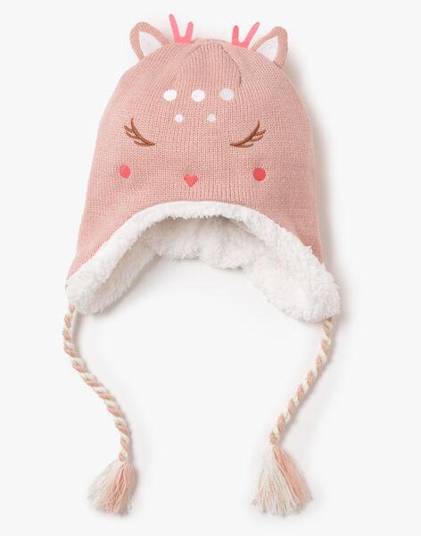 Bonnet rose en tricot  VEQUOETTE / 20H4PFJ1BOND313