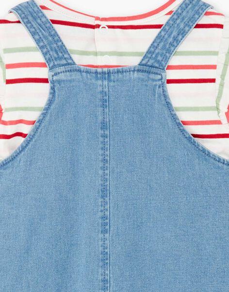 Ensemble robe salopette et T-shirt rayé ZOCHUETTE / 21E2PFJ1ENSP269
