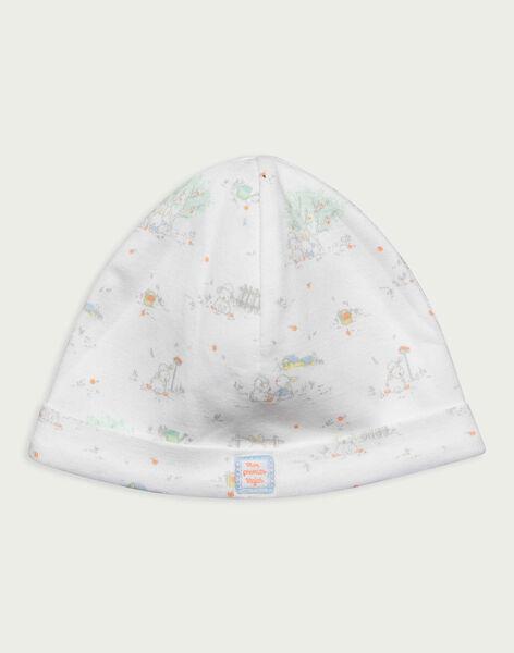 Bonnet de naissance blanc RYAUGUSTE / 19E0AG11BNA001