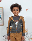 Sweat à capuche zippé bicolore enfant garçon BIABAGE / 21H3PGJ1GIL944