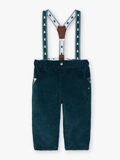 Pantalon vert à bretelles  VAWALDO / 20H1BGZ1PANG614