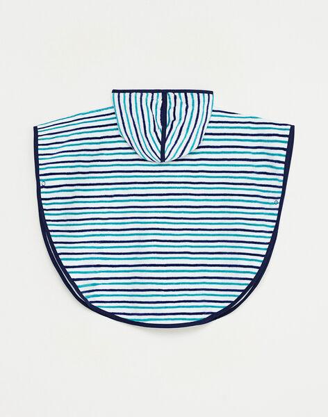 Cape de bain rayée bébé garçon  TIBRAHIM / 20E4BGI1CDB001