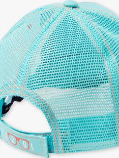 Casquette bleu turquoise ajourée enfant garçon ZOCAPAGE / 21E4PGU1CHA202