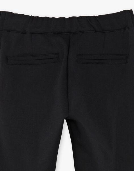 Pantalon noir enfant fille ZEPATETTE 1 / 21E2PF91PAN090