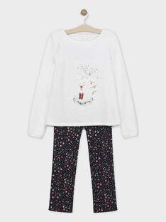 Pyjama ecru mère-fille SORAFEF / 19H2FFQ1PYJ001