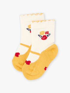 Chaussettes motif babies et fleurs bébé fille BAELAYA / 21H4BF51SOQ001