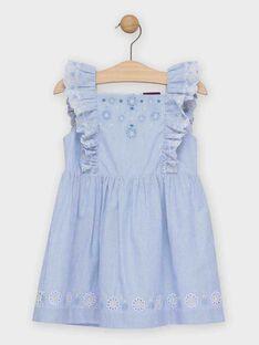 Robe rayée bleu et blanche fille   TOIDOETTE / 20E2PFO1ROBC204