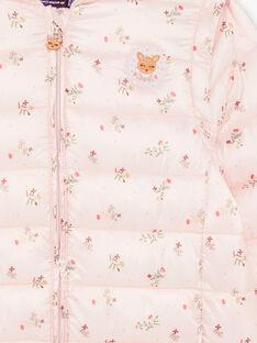 Doudoune matelassée rose imprimé fleuri avec capuche ZALINETTE 3 / 21E2PFP1DTV307