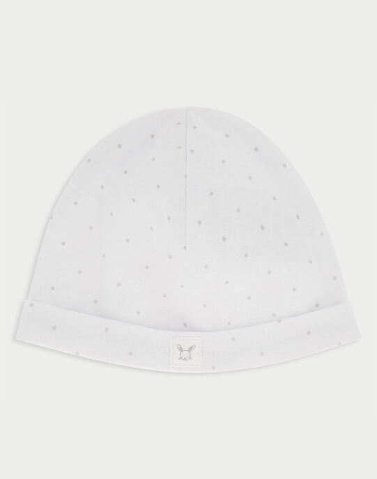 Bonnet de naissance blanc RYGOLO / 19E0AMI1BNA001