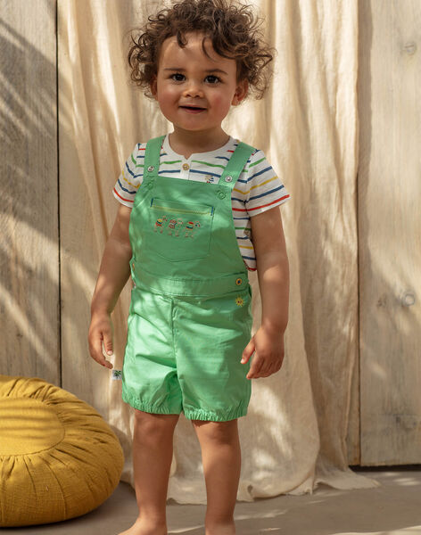 Salopette courte verte bébé garçon TARABI / 20E1BGQ1SAC611