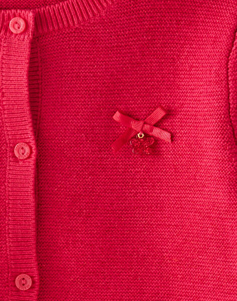 Cardigan point mousse fuchsia VECADETTE 3 / 20H2PFC1CAR304
