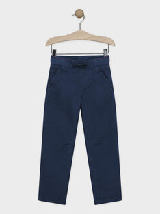 Pantalon bleu doublé polaire garçon SELASTAGE / 19H3PGI3PAN717