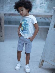 Bermuda gris piqué à détail colorés enfant garçon ZEMAGE / 21E3PGO2BERJ904