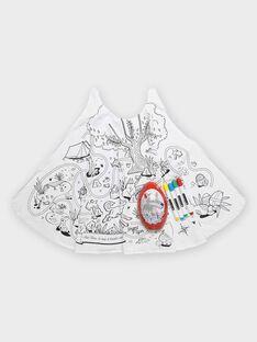 Œuf de Pâques rouge et cape à colorier enfant garçon TULOUAGE / 20E3PGU2CPO000