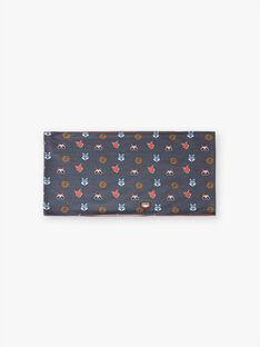 Snood gris foncé imprimé animal de la forêt enfant garçon BIBRAGE / 21H4PGJ1SNOI808