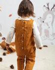 Combinaison camel imprimé fantaisie bébé fille BAINOU / 21H1BFJ1SAL804