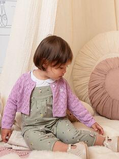 Gilet parme maille ajourée bébé fille BACAITLIN / 21H1BF22CAR329