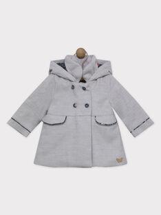 Manteau à capuche et col - Doublure AOP - Détails AOP - Poches devant - Badge métal devant  - Nœud et plis au dos SIOMA / 19H1BFF1MANJ920
