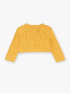 Cardigan bolero jaune en tricot fantaisie ZADELPHINE / 21E1BF92CARB114