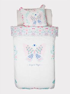 Drap / parure de lit blanc ROFLEURTC / 19EZENX1PLC001