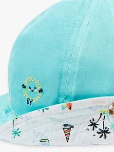 Chapeau bleu turquoise imprimé tropical bébé garçon ZATANGUY / 21E4BGU1CHA202