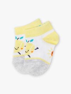 Chaussettes à motifs citron et soleil bébé garçon ZAMADI / 21E4BGO1SOB001