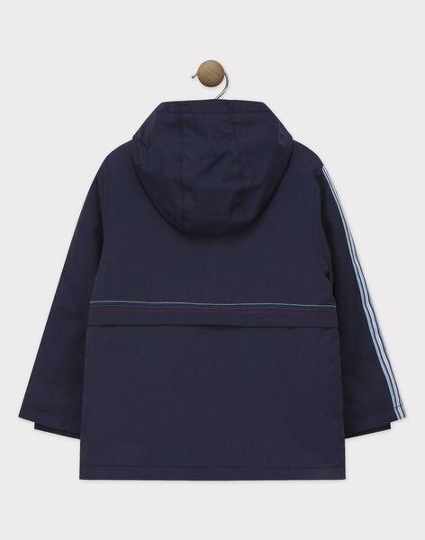 Parka imperméable bleu marine trois en un garçon   TAPARKAGE / 20E3PGC1IMP070