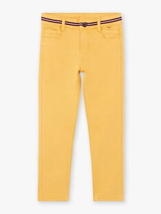 Pantalon jaune enfant garçon BEFOAGE / 21H3PG54PANB114