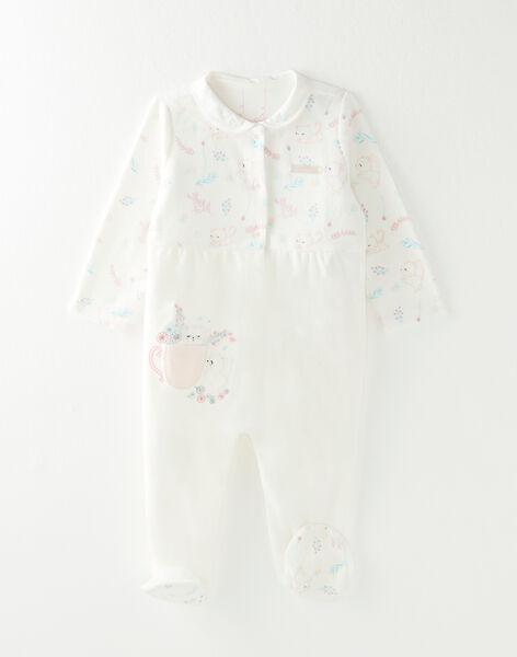 Dors bien en velours écru bébé fille VELAURA / 20H5BF23GRE000