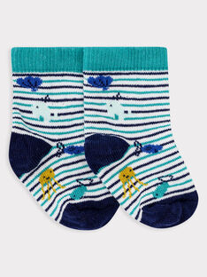Chaussettes rayées bleue bébé garçon.  TAERI / 20E4BGD2SOQ001