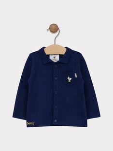 Gilet boutonné sur le devant bébé garçon couleur bleu marine  SAFRANTZ / 19H1BG42GILC214