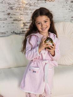 Peignoir rose manches longues à capuche enfant fille BEBOPETTE / 21H5PF61PEI307