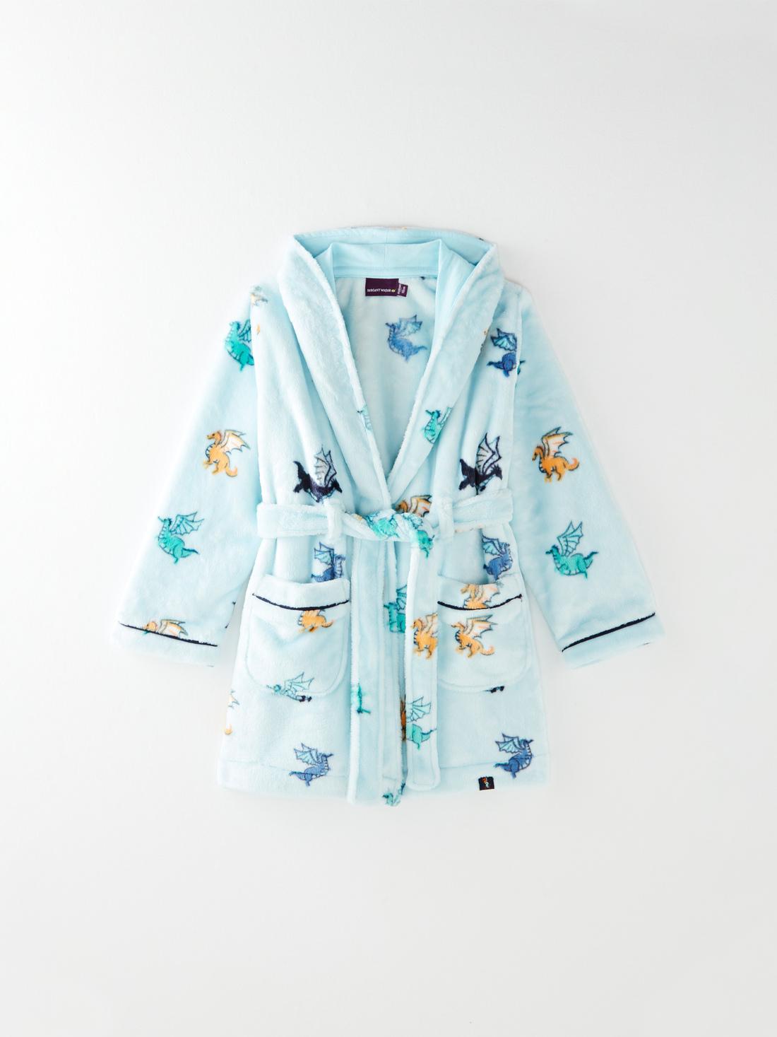 Robe de chambre imprimé dragons petit garçon